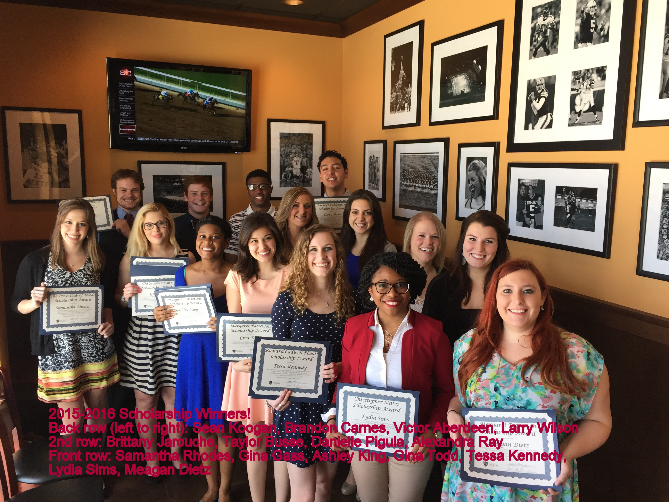 2015-2016 Scholarship Winners
