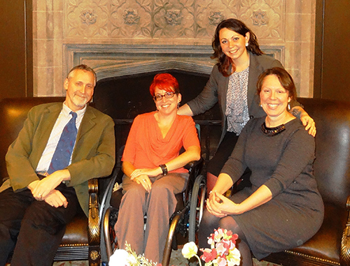 Pictured are the four wonderful Disability Studies Faculty