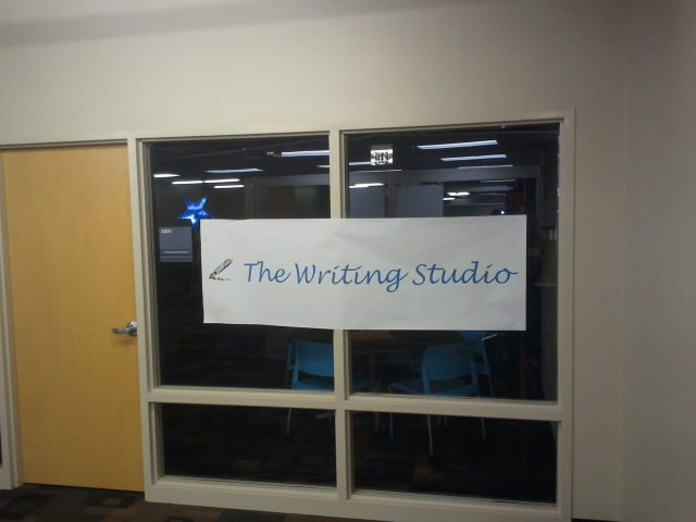 Writing Studio Welcome Sign