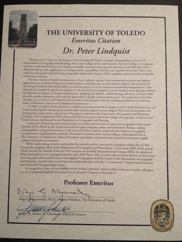 Professor Emeritus Award