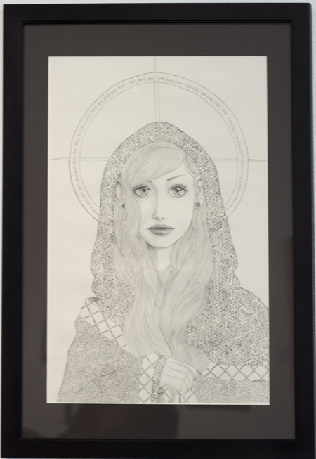 "Raphael Award for Excellence in Drawing, Jenna Wing ""arabesque"" Graphite"