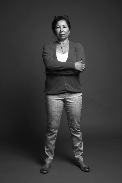 Photo of Dr. Celia Williamson, part of the Faces of Trafficking exhibit by Barbara Miner and Robert Cummerow