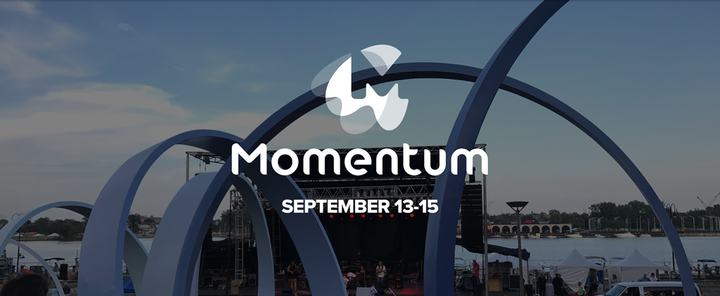 Momentum photo of event with title