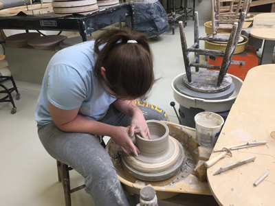 UT offers art camps and workshops for high school students in ceramics and sculpting