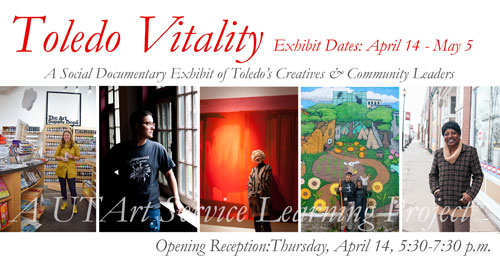 Toledo Vitality Exhibit April 14 through May 5 at Parkwood Gallery