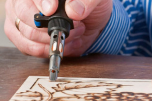 Example of woodburning technique