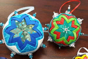 Example of quilted ornaments