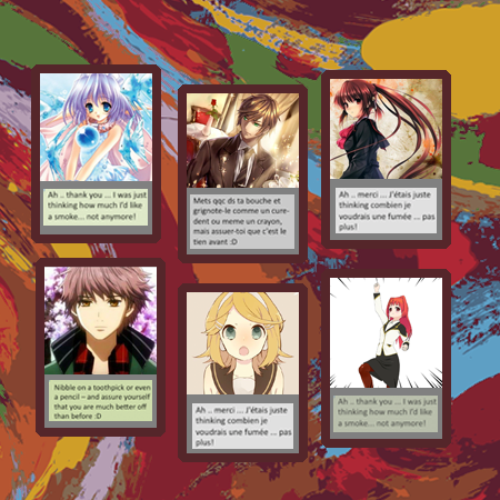 Sample anime card game