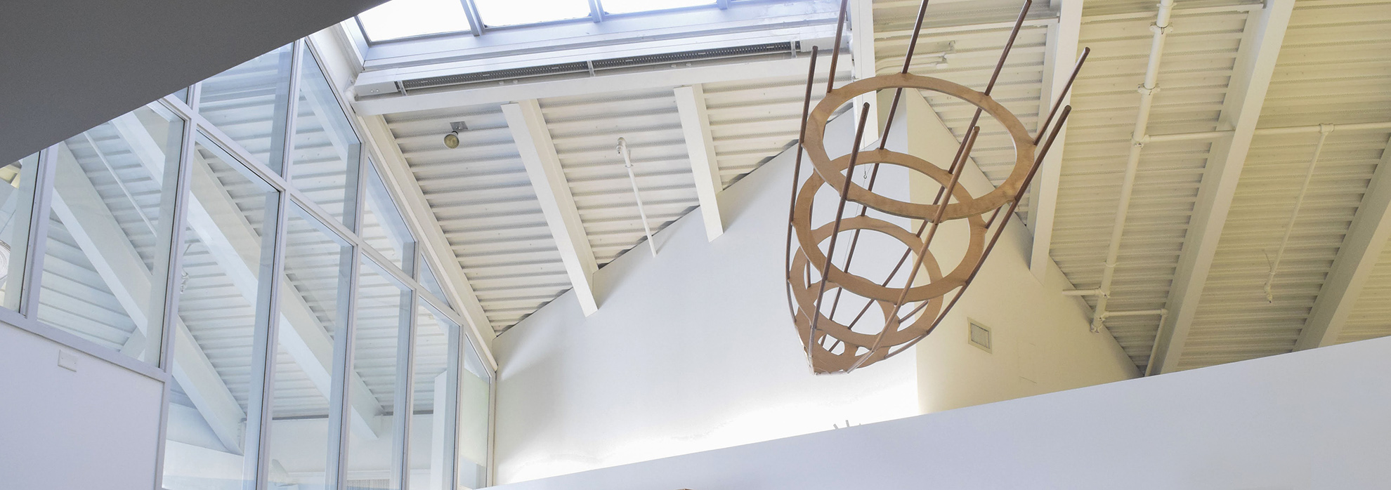ceiling of CVA with sculpture