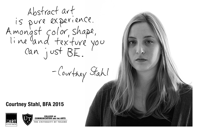 Courtney Stahl, 2015 BFA 2D Studies Graduate