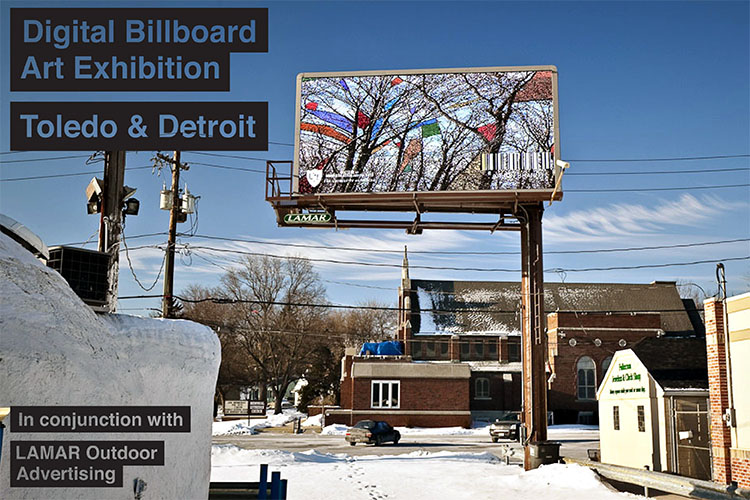 Digital Billboard Art Exhibition