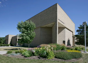 The Center for Performing Arts building exterior summer