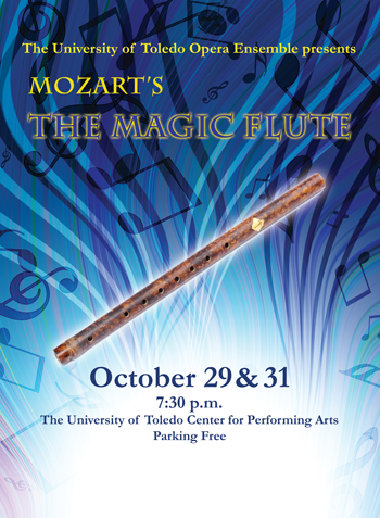 UT production of Mozart's THE MAGIC FLUTE runs October 29 and 30, 2015