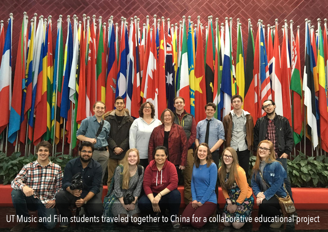 UT Music and Film students traveled together to China for a collaborative educational project