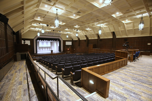 The interiors of the Doermann Theater at the University of Toledo.