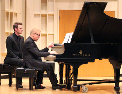 UT's Dr. Michael Boyd performing in concert at the 2015 Steinway Gala concert