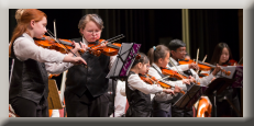 Photo of GTiYO junior orchestras, there are 3 orchestra levels in the GTiYO