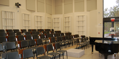 UT Center for Performing Arts Choir Rehearsal Room
