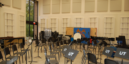 UT Center for Performing Arts, Instrumental Rehearsal space, Band Room