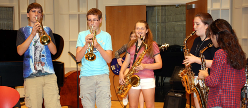 Youth participating in the Summer jazz camp at the University of Toledo