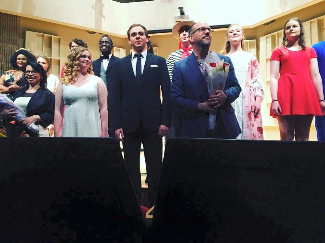 Micah Graber and students Opera performance