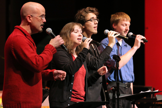 UT jazz vocal students perform at the annual holiday jazz concert