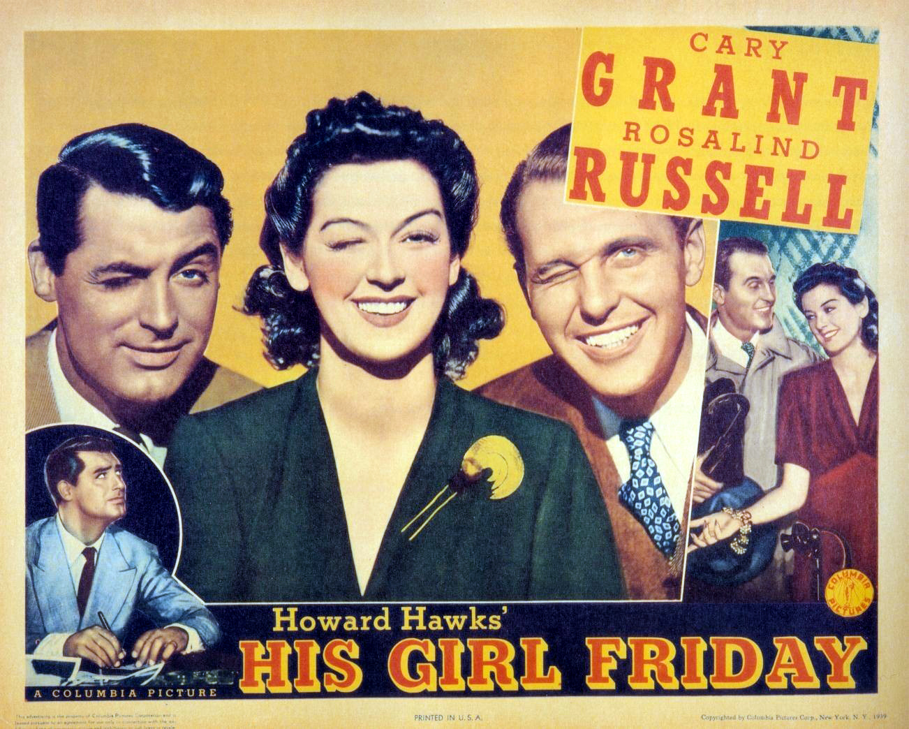 UT Department of Theatre and Film presents His Girl Friday as part of its First Friday on Film Series