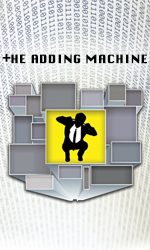 Poster from the UT production of The Adding Machine by Elmer Rice, Oct. 24-26, Oct. 31-Nov. 2, 2014