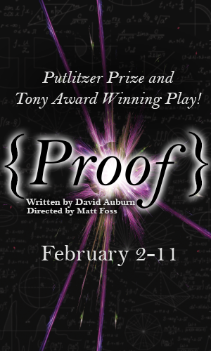 Graphic image of production poster for Proof