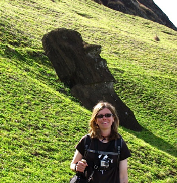 Tammy Kinsey at Easter Island 2011 (shooting a documentary film there)