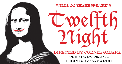 UT presents Shakespeare's play Twelfth Night February 20-22, and February 27-March 1, 2015
