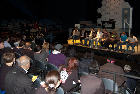 Photo of the talkback discussion for The Hothouse