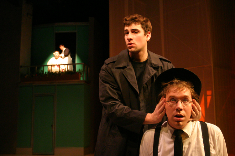 Brad Arner and Pete Cross in Antigone
