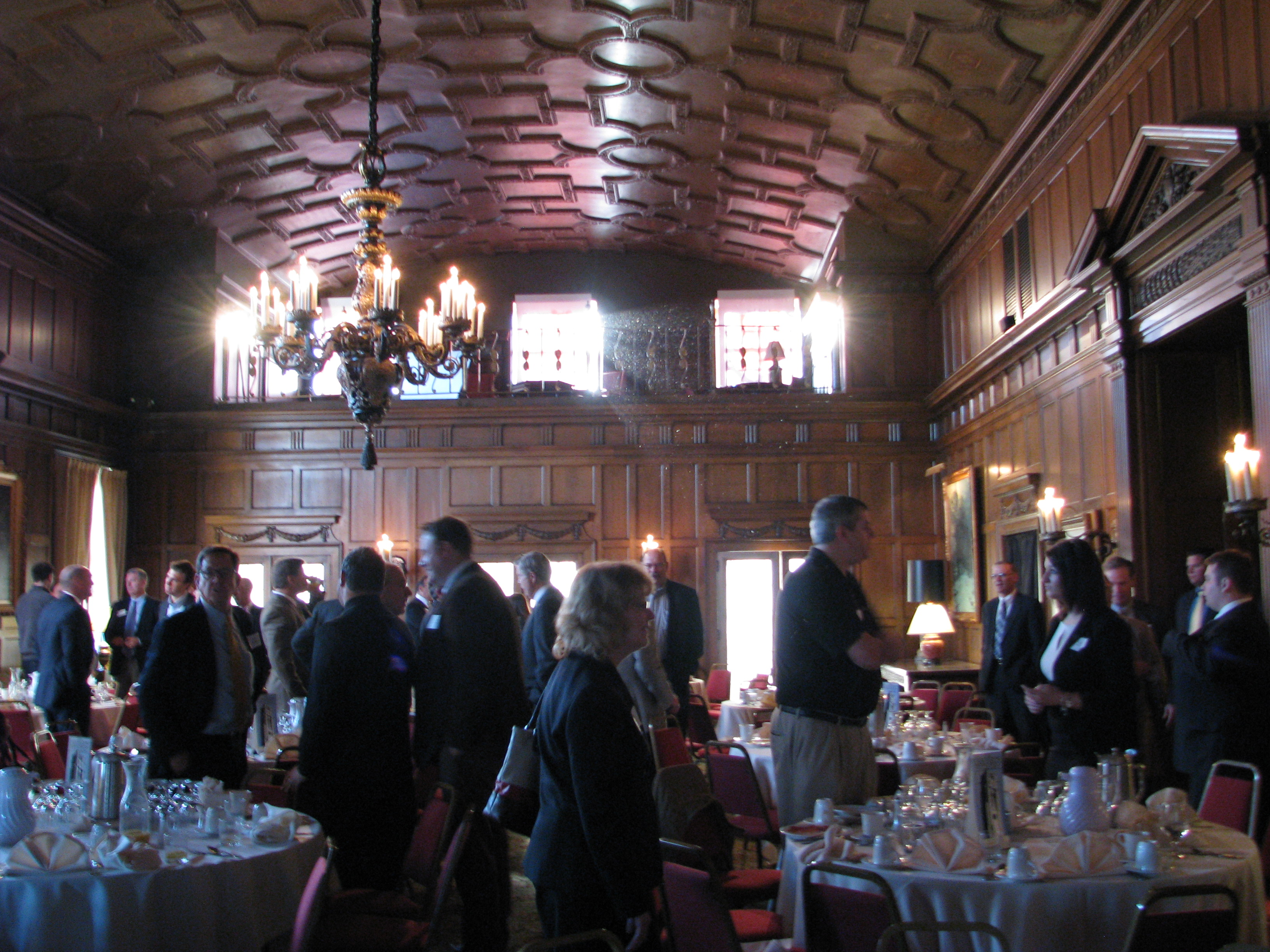 The Toledo Club provided a beautiful setting for dozens of COBI alumni to gather for the breakfast program
