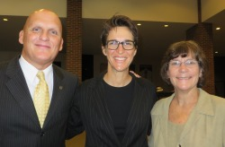 Dr. Clint Longenecker and MSNBC's Rachel Maddow were keynote speakers at a West Point ethics conference