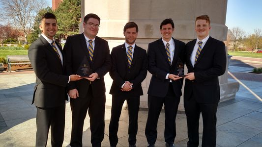Pictured left to right: Tyler Hooven, Joshua Light, Phil Mick, Zachary Zavela, and Bradley Spelman