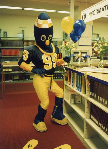 Rocky at the Ohio Link Dedication in the library.