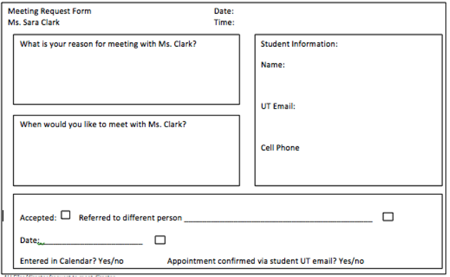 Forms – Student Request Form