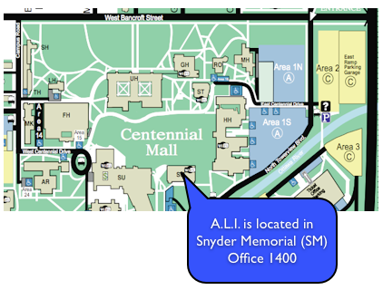 Location of A.L.I. on campus