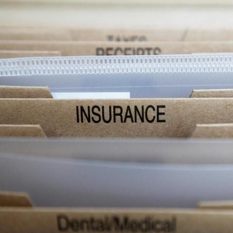 picture of a folder with Insurance on it