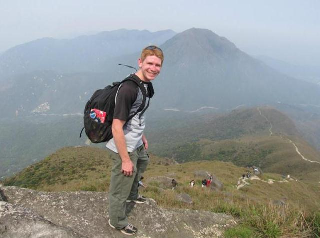 Zachary Reaver at the Great Wall of China