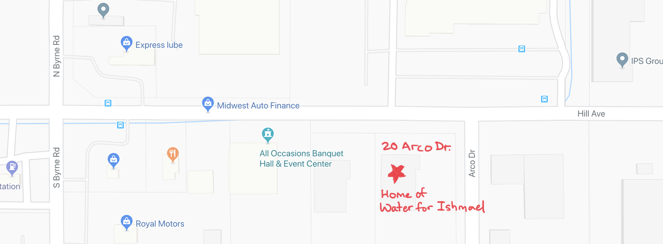 Map to 20 Arco Drive