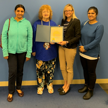 From left: Sumitra Srinivasan (Communication Department), Paulette D. Kilmer (Communication), Abby Arnold (Chief Deputy), and Saadia Farooq.