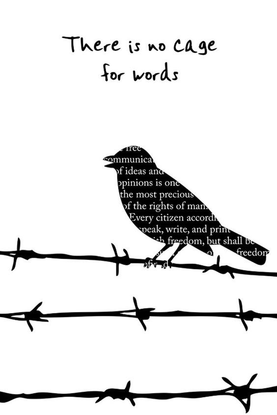 There is no cage for words