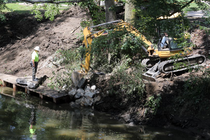 Restoration work on the Ottawa River in August 2013