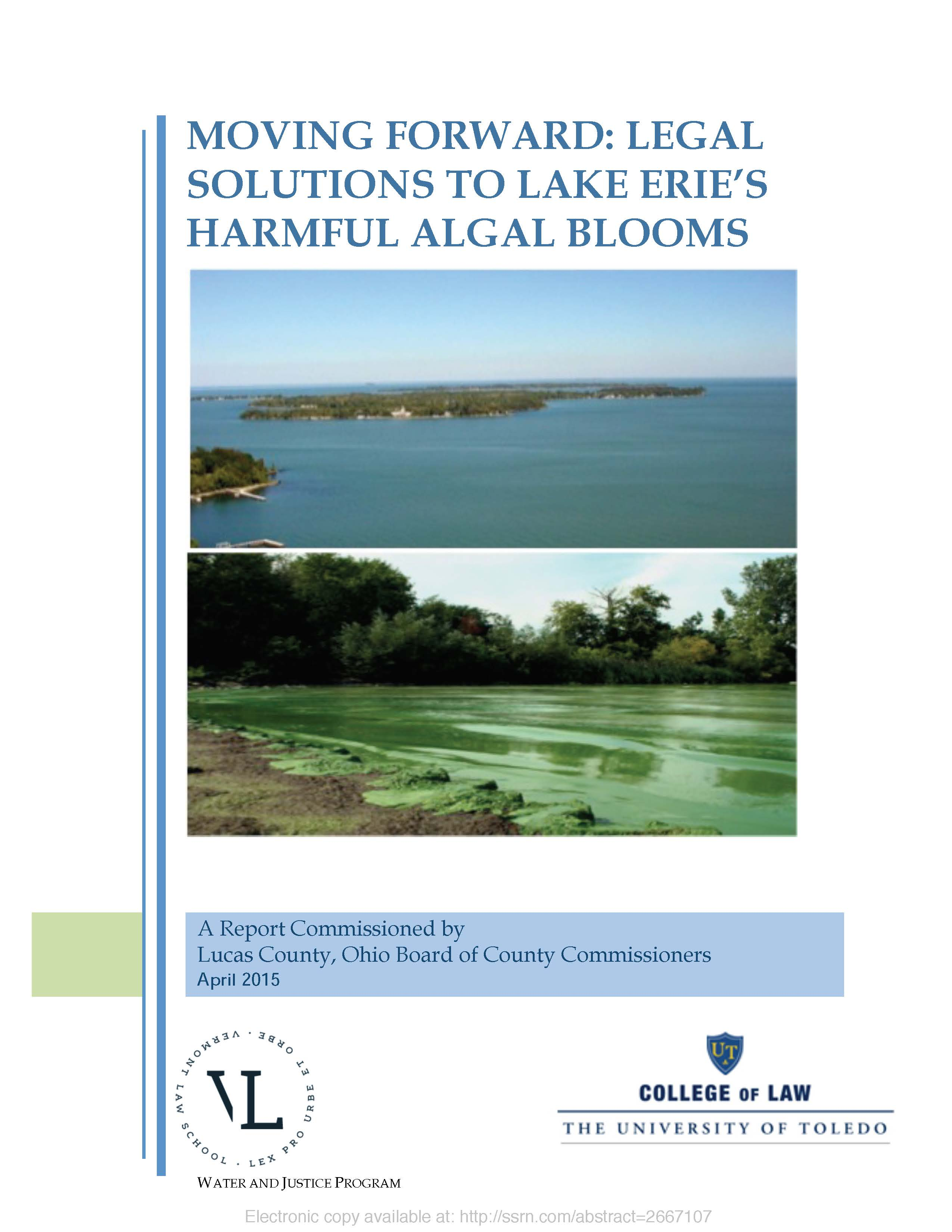 Moving Forward: Legal Solutions to Lake Erie's Harmful Algal Blooms