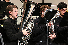 Music department students brass in performance