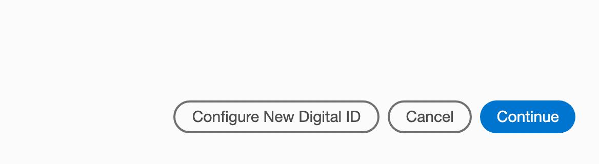 Configure new digital signature
