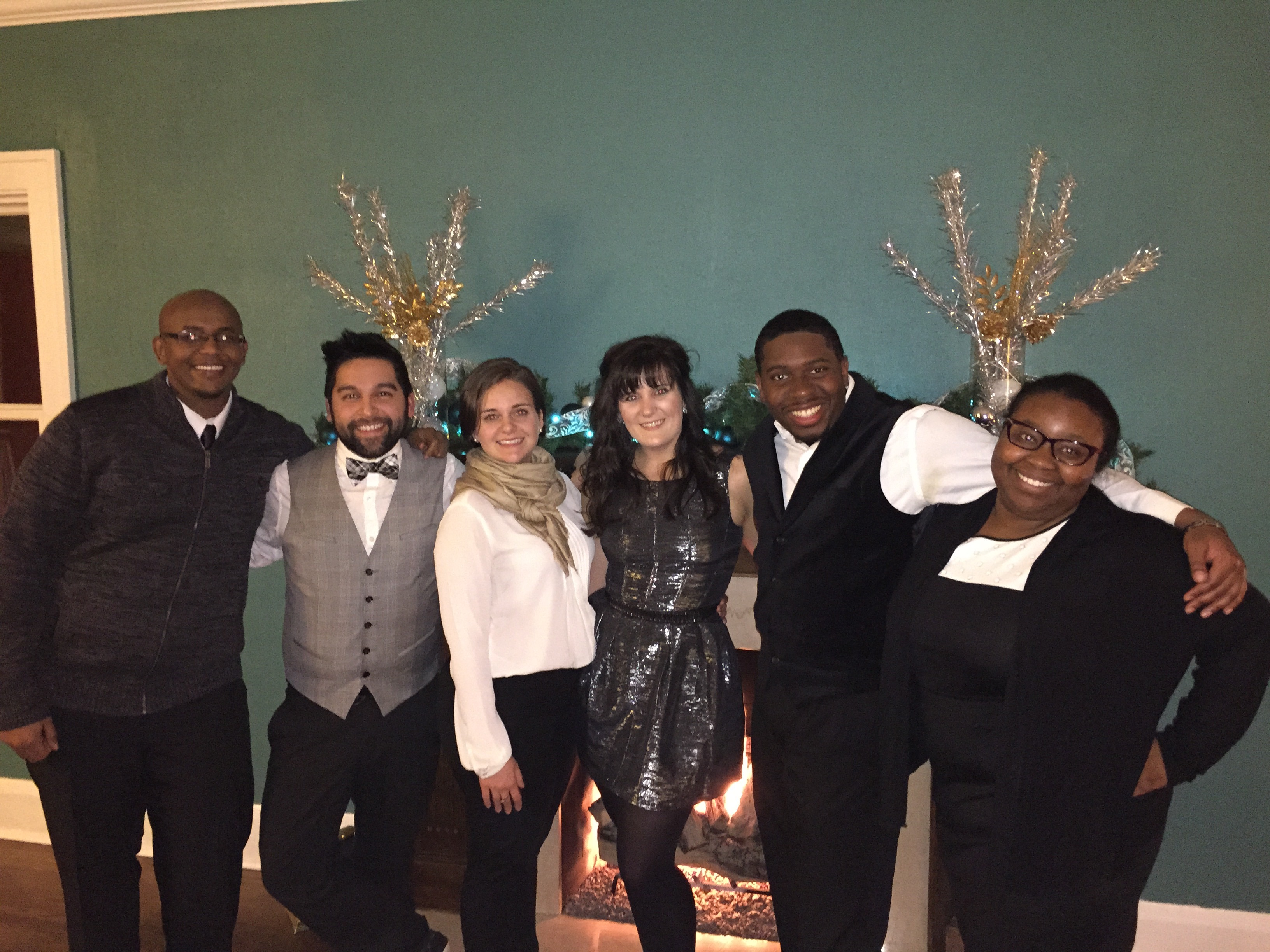 2nd year HESA students at Winter Dinner