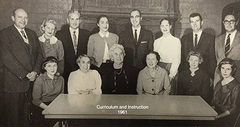 Curriculum and Instruction Department - 1961